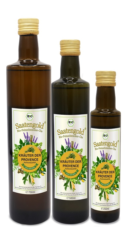 Saatengold-Bio-Feinschmecker-Öle Kräuter der Provence