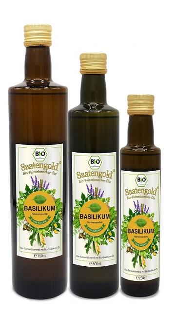 Saatengold-Bio-Feinschmecker-Öle Basilikum