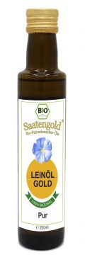 Saatengold-Bio-Feinschmecker-Öle Leinöl Pur