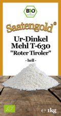 """SAATENGOLD® Ur-Dinkel Mehl T-630 """"Roter Tiroler"""" – hell – (Bio)"""